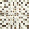 "Bedrosians Interlude Blend 3/4"" x 3/4"" Stone and Glass Mosaic Tile in Encore"