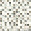 "Bedrosians Interlude Blend 3/4"" x 3/4"" Stone and Glass High-Gloss Mosaic in Harmony"