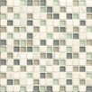 """Bedrosians Interlude Blend 3/4"""" x 3/4"""" Stone and Glass Mosaic in Minuet"""