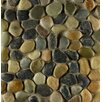 Bedrosians Hemisphere Random Sized Pebble Stone Mosaic Tile in Riverbed
