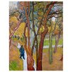 Epic Art 'Walk in The Falling Leaves' by Vincent Van Gogh Painting Print on Canvas