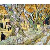 Epic Art 'The Road Menders' by Van Gogh Painting Print on Canvas
