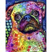 <strong>Epic Art</strong> 'Pug' by Dean Russo Graphic Art on Canvas