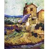 Epic Art 'Landscape Near Arles' by Gauguin Painting Print on Canvas