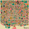 Epic Art 'Retro City Map Toronto' by Jazzberry Blue Graphic Art on Canvas