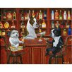 <strong>Epic Art</strong> 'Three Friends At the Bar' by Brian Rubenacker Graphic Art on Canvas