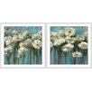 <strong>Epic Art</strong> Flowers of Dreams 2 Piece Framed Painting Print Set