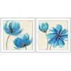 <strong>Epic Art</strong> Amazing Azure 2 Piece Framed Painting Print Set