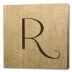 <strong>Epic Art</strong> Vintage Linen Monogram Graphic Art on Canvas