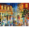 <strong>'Rainy Glow' by Karen Tarlton Painting Print on Canvas</strong> by Epic Art