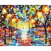 Epic Art 'Warm Glow of Night' by Karen Tarlton Painting Print on Canvas