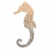 <strong>Epic Art</strong> 'Gatsby Gold Seahorse' by Monika Strigel Graphic Art on Canvas