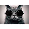 Epic Art 'Cyber Cat' by Johnny Alex Photographic Print on Canvas