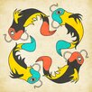 Epic Art Koi Fish Graphic Art on Canvas