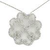 <strong>Splendor Jewelry</strong> Art Deco Sterling Silver Heart Cubic Zirconia Necklace