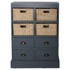<strong>Gallerie Decor</strong> Nantucket 4 Drawer 4 Basket Chest