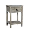 Gallerie Decor Driftwood End Table