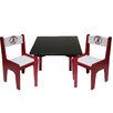 <strong>NCAA Kids' 3 Piece Table and Chair Set</strong> by Fan Creations