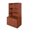 "Regency Sandia Low Box/Lateral File/Hutch 55"" Bookcase"