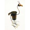D-Art Collection Standing Rooster Round Pot Planter