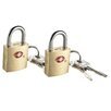 <strong>Franzus</strong> Small Brass Travel Sentry Padlock (2 Count)