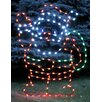 <strong>Queens of Christmas</strong> Waving Santa Claus LED Light Christmas Decoration