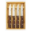 Zwilling JA Henckels 4-Piece Steakhouse Steak Knife Set with Wood Box