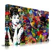 <strong>Audrey Hepburn Graphic Art on Canvas</strong> by Maxwell Dickson