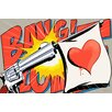 "Maxwell Dickson ""Love Gun"" Graphic Art on Canvas"