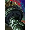 "Maxwell Dickson ""Statue of Liberty"" New York Graffiti Graphic Art on Wrapped Canvas"