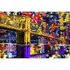 "Maxwell Dickson ""Brooklyn Bridge"" Painting Prints on Canvas"