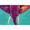 "Maxwell Dickson ""Elephant in the Room"" Graphic Art on Canvas"