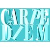 Maxwell Dickson 'Carpe Diem' Textual Art on Wrapped Canvas