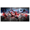 Maxwell Dickson 'Beautiful Mind' Abstract 3 Piece Painting Print on Wrapped Canvas Set