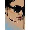 Maxwell Dickson 'Michelle' Portrait Fashion Graphic Art on Wrapped Canvas