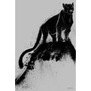 Maxwell Dickson 'Black Cat' Graphic Art on Wrapped Canvas