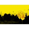 Maxwell Dickson 'Yellow Rose' Graphic Art on Canvas