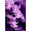 "Maxwell Dickson ""Purple Orchid"" Painting Prints on Canvas"