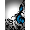 """Maxwell Dickson """"Music Notes"""" Graphic Art on Canvas"""