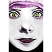 Maxwell Dickson 'White Face' Graphic Art on Wrapped Canvas