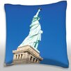 Maxwell Dickson Statue of Liberty in New York City Throw Pillow