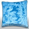 Maxwell Dickson Elegant Pattern of Frost on Window Throw Pillow