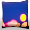 Maxwell Dickson Runway Lights at Night Throw Pillow
