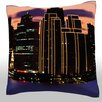 Maxwell Dickson San Francisco Skyline Throw Pillow