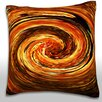 Maxwell Dickson Swirling Autumn Leaves Throw Pillow