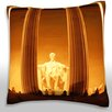 Maxwell Dickson Lincoln Memorial, Washington DC Throw Pillow