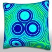 Maxwell Dickson Retro Circles Throw Pillow