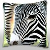 Maxwell Dickson Zebra, Close-Up Throw Pillow