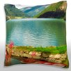 Maxwell Dickson Two Row Boats in Water Throw Pillow