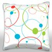 Maxwell Dickson Abstract Planet Background Showing the Orbits Throw Pillow